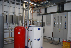 Woodley Sports Centre Stockport, installation of heating and air conditioning systems, plumbing and fitments.